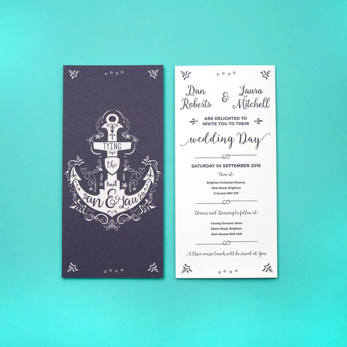 Nautical template design by Vicky Perry Wedding Stationery - 001