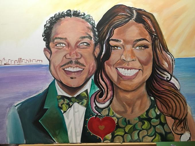 Custom Couple Art by Amber R Taylor Live Art - 002