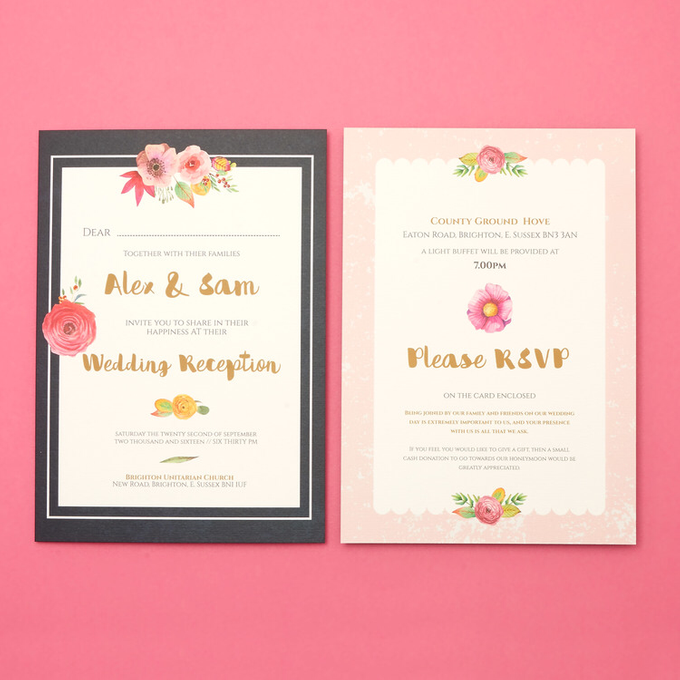 Blooms template design by Vicky Perry Wedding Stationery - 006