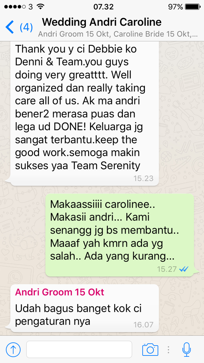 Testimoni from our Lovely Groom n Bride  by Serenity wedding organizer - 005
