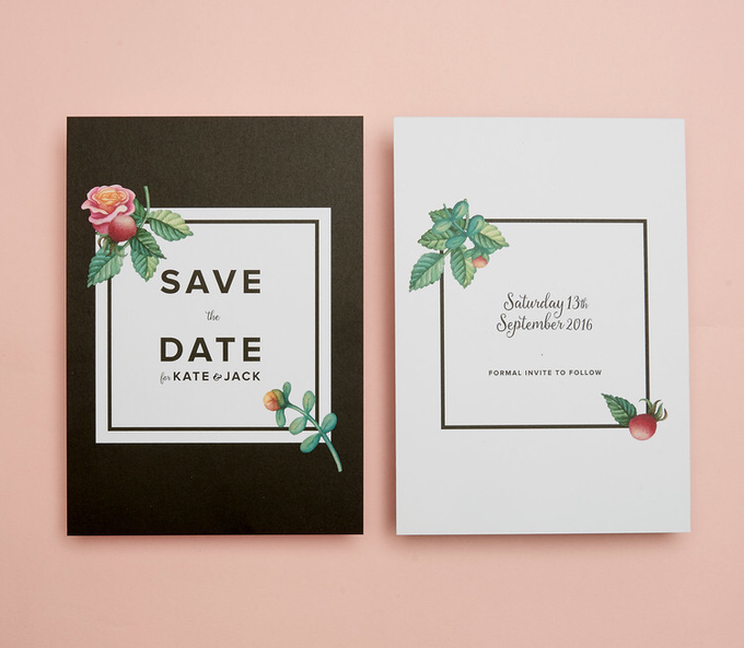 Midnight template design by Vicky Perry Wedding Stationery - 002