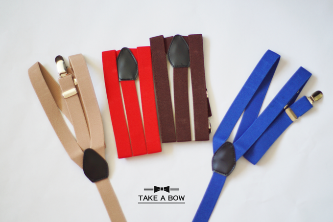 [NEW] TIE SET WITH SUSPENDERS by Take A Bow Tie - 008