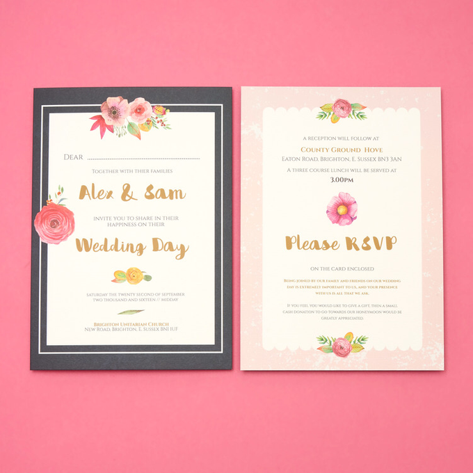 Blooms template design by Vicky Perry Wedding Stationery - 003