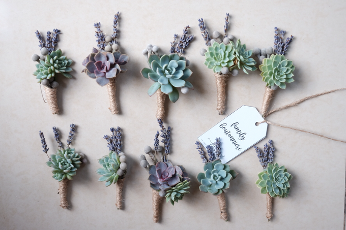 Rustic Succulent Boutonniere by Floral Theory - 001