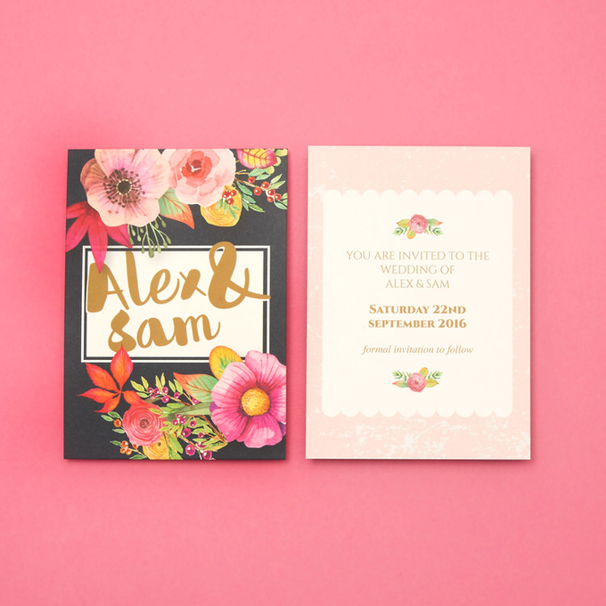 Blooms template design by Vicky Perry Wedding Stationery - 004
