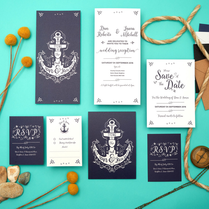 Nautical template design by Vicky Perry Wedding Stationery - 006