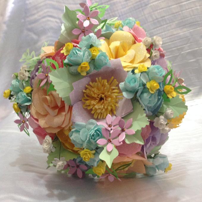Pastel Handcrafted Entourage Bouquets by Duane's Fleur Creatif - 005