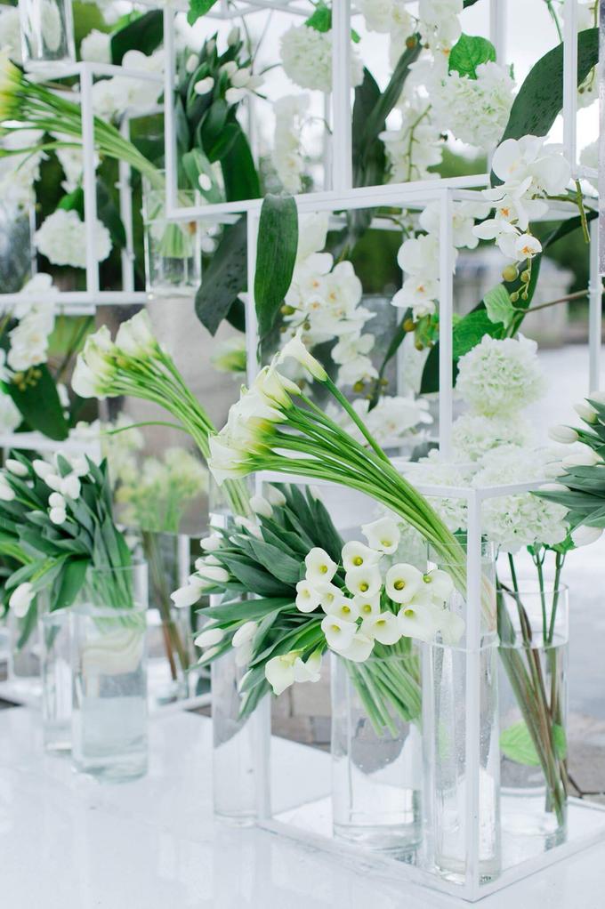 Minimalist wedding in June by Maria German decor - 007
