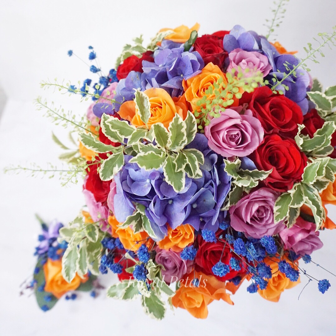 Candy crush wedding bouquet by Royal Petals - 005