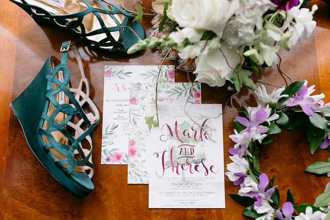 Watercolor and Calligraphy Wedding Invitations by First of April - 014