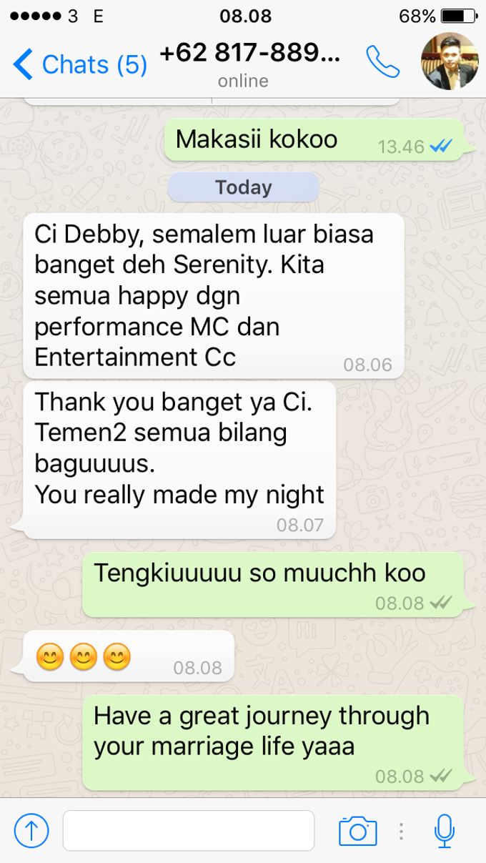 Testimoni from our Lovely Groom n Bride  by Serenity wedding organizer - 011