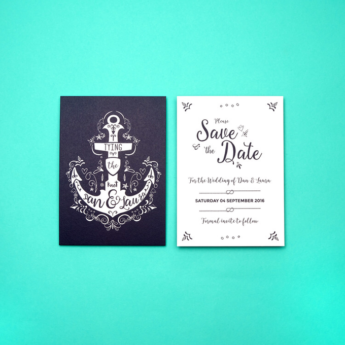 Nautical template design by Vicky Perry Wedding Stationery - 002
