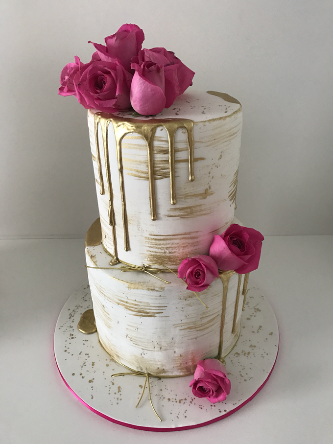Floral Arrangment Box inspired cake  by Cake4me - 002