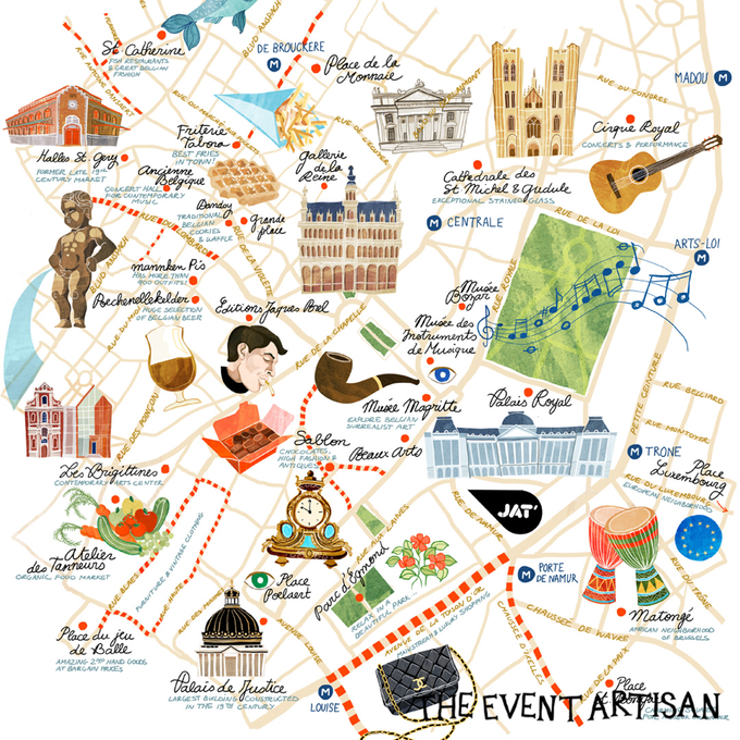 Customised map for your wedding  by The Event Artisan - 004