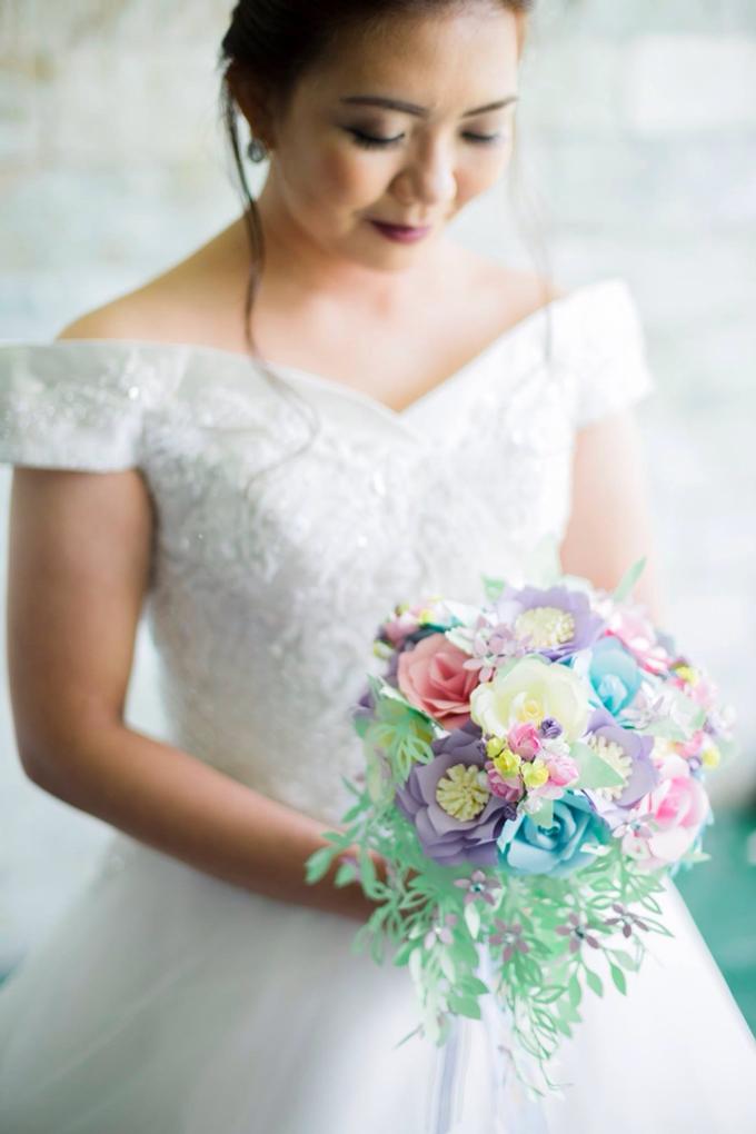 Pastel Handcrafted Entourage Bouquets by Duane's Fleur Creatif - 034