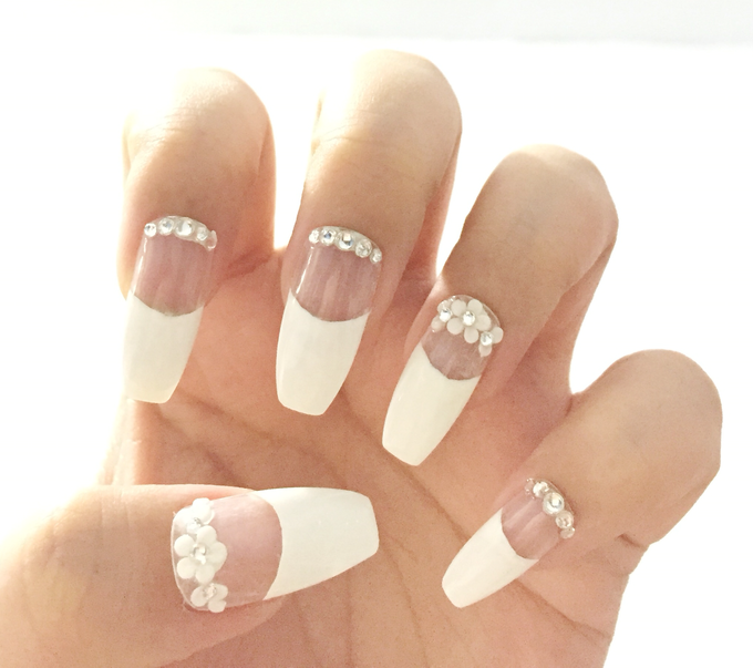 Wedding nails by Luxury Nails | Bridestory.com