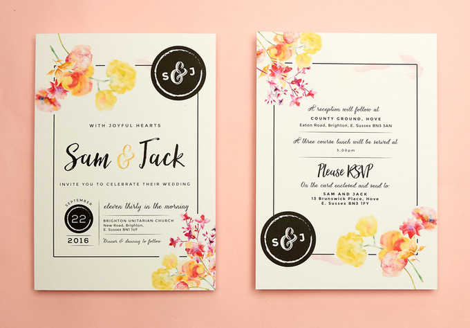 Vintage Floral template design by Vicky Perry Wedding Stationery - 002