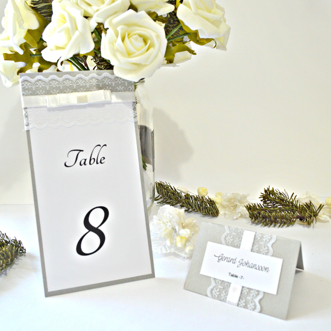 Lace wedding menu by Jasmine wedding prints - 004