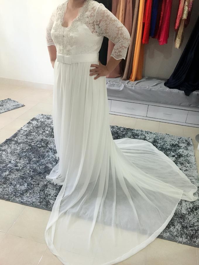 SIMPLE WEDDING DRESS TAIL BISA DI LEPAS by TS BRIDAL BALI - 013