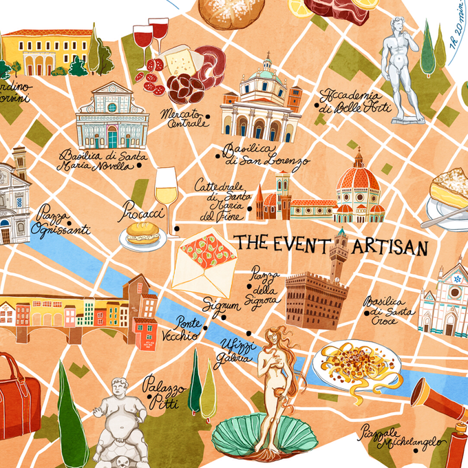 Customised map for your wedding  by The Event Artisan - 001