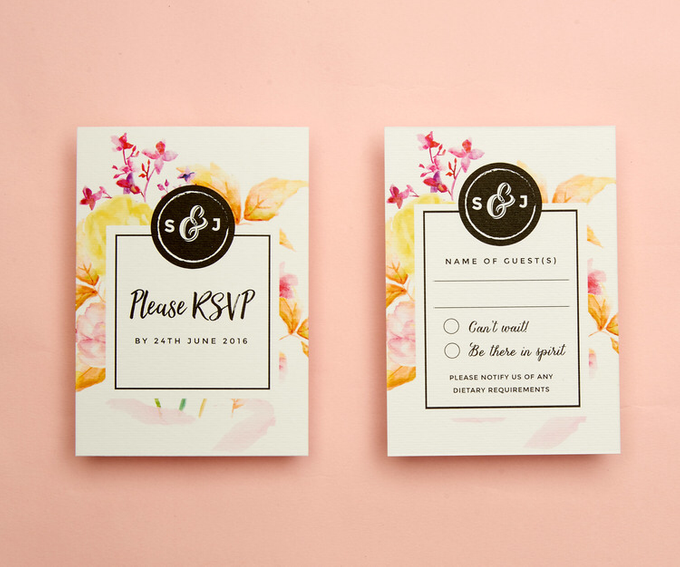Vintage Floral template design by Vicky Perry Wedding Stationery - 003