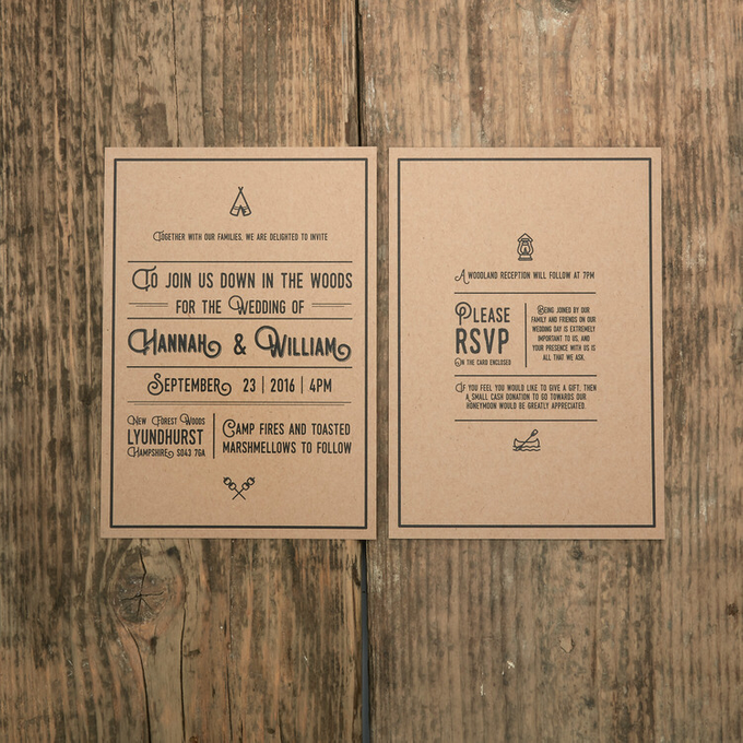 Forest template design by Vicky Perry Wedding Stationery - 001