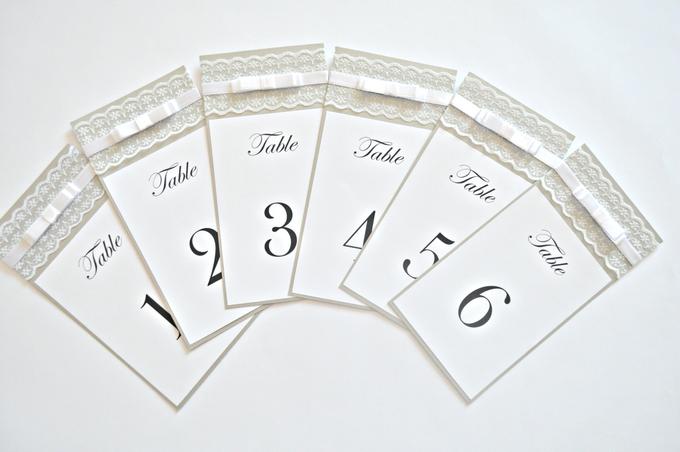 Lace wedding menu by Jasmine wedding prints - 005