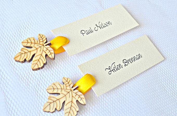 Fall name tags by Jasmine wedding prints - 005