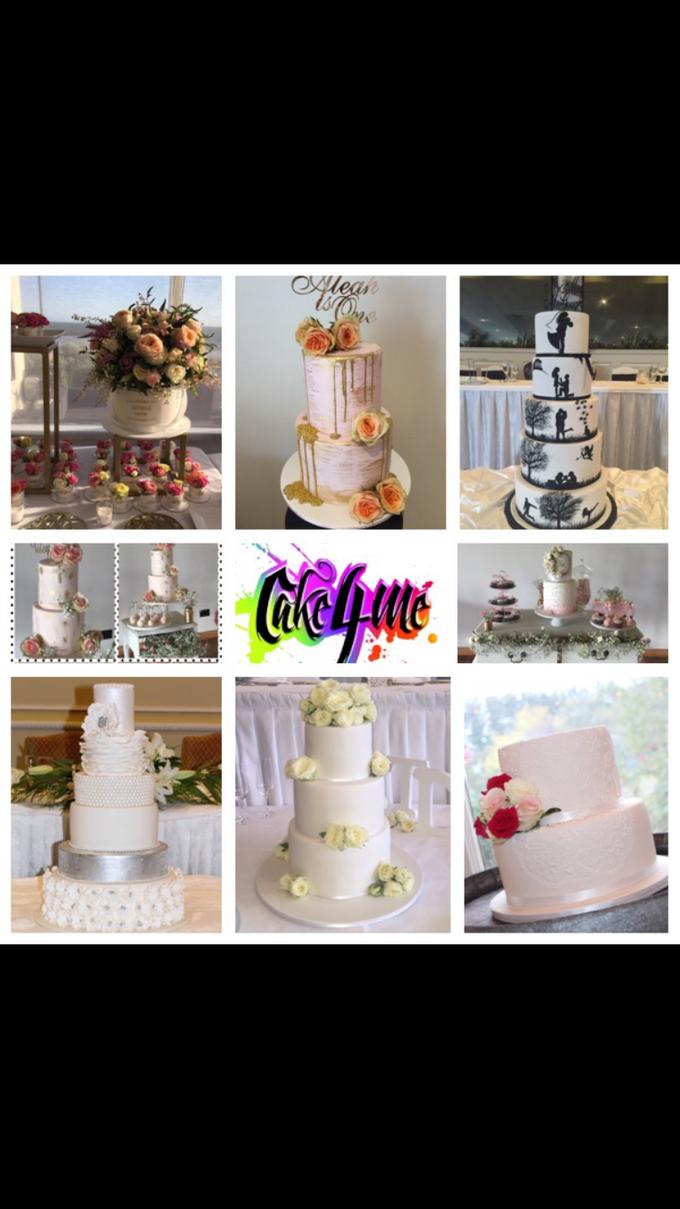 Custom designed wedding cakes . by Cake4me - 001