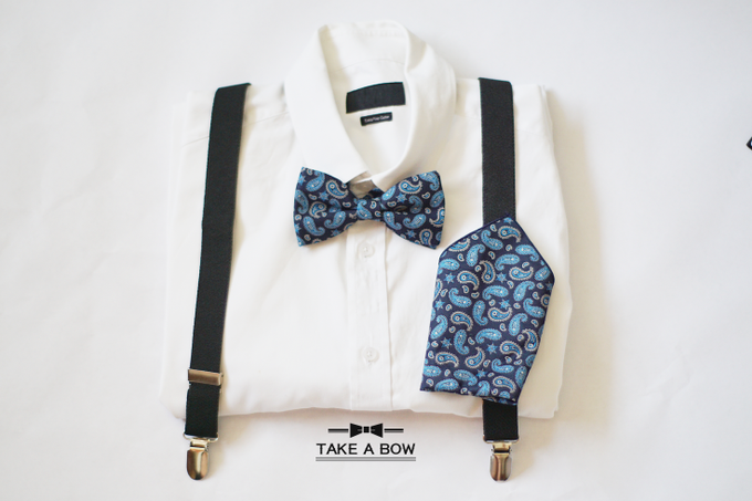 [NEW] TIE SET WITH SUSPENDERS by Take A Bow Tie - 003