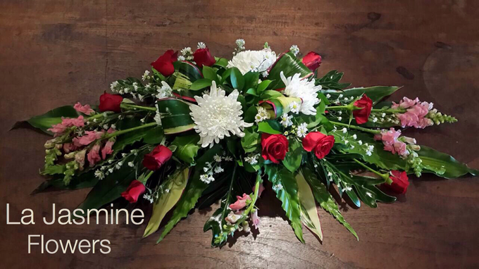 Flower basket  by La Jasmine Floral Design - 005