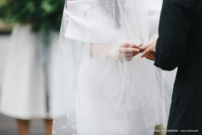 Veil & Pearls : Ileana & Eric Monochromatic by Elsie Chrysila Brides - 002