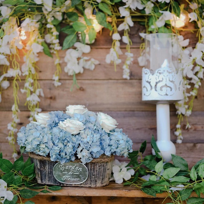 Dusty blue in romantic rustic by Bali Signature - 001