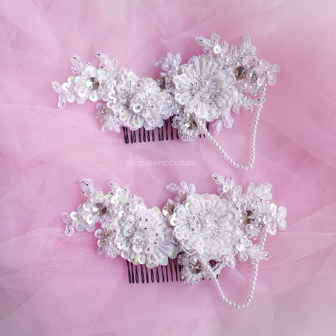 Double Headpiece by Sequeen Couture - 001