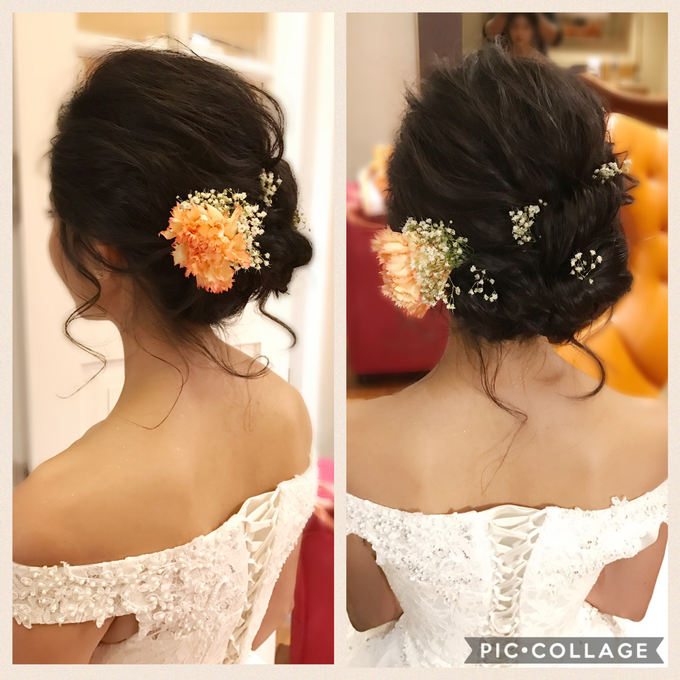 Bridal Hairstyles  by Zinny Theint Make-up Artistry - 001