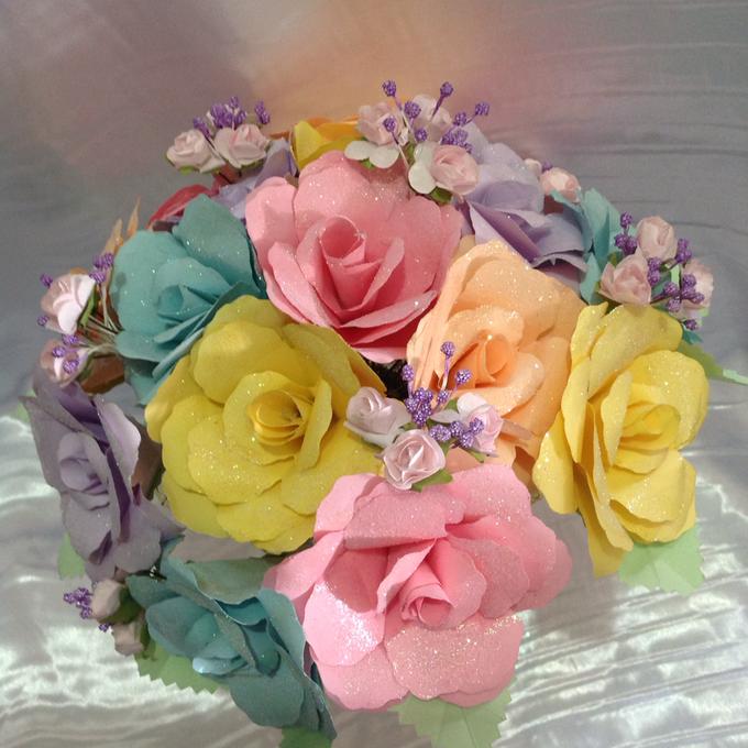 Pastel Handcrafted Entourage Bouquets by Duane's Fleur Creatif - 008
