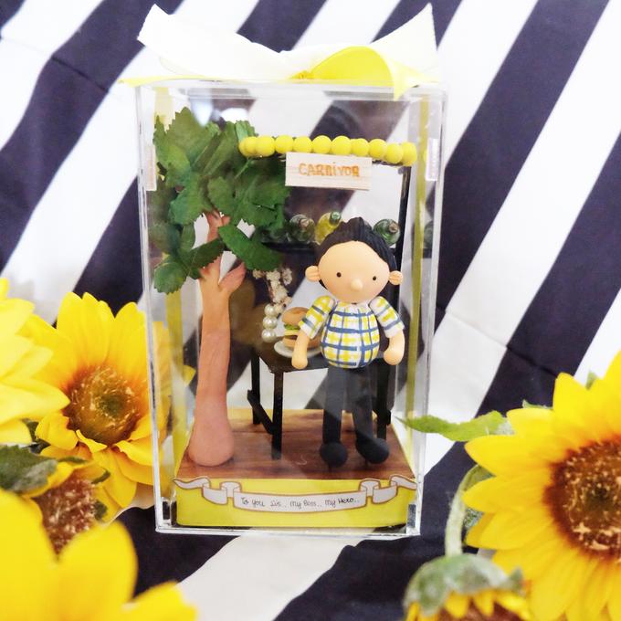 Birthday gift idea (single miniature in a box) by de hijau hejo - 002