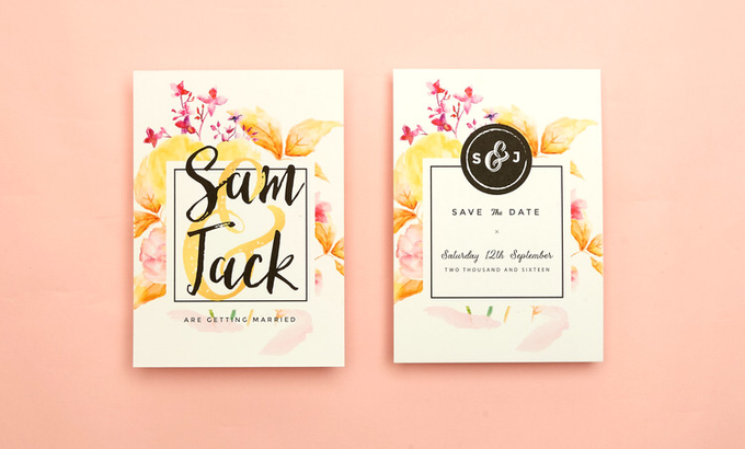 Vintage Floral template design by Vicky Perry Wedding Stationery - 004