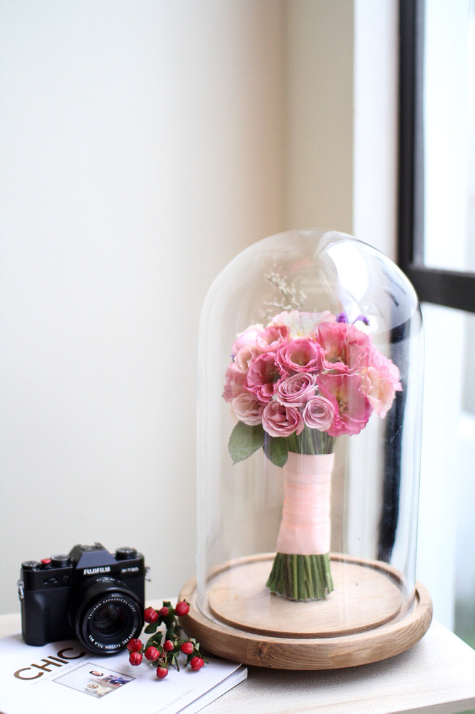 Beauty & The Beast Inspired Preserved Wedding Bouquet by Camila V Flower Preservation Studio - 003