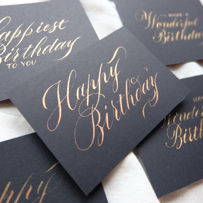 Add To Board Birthday Greeting Cards By Novitawjya Calligraphy