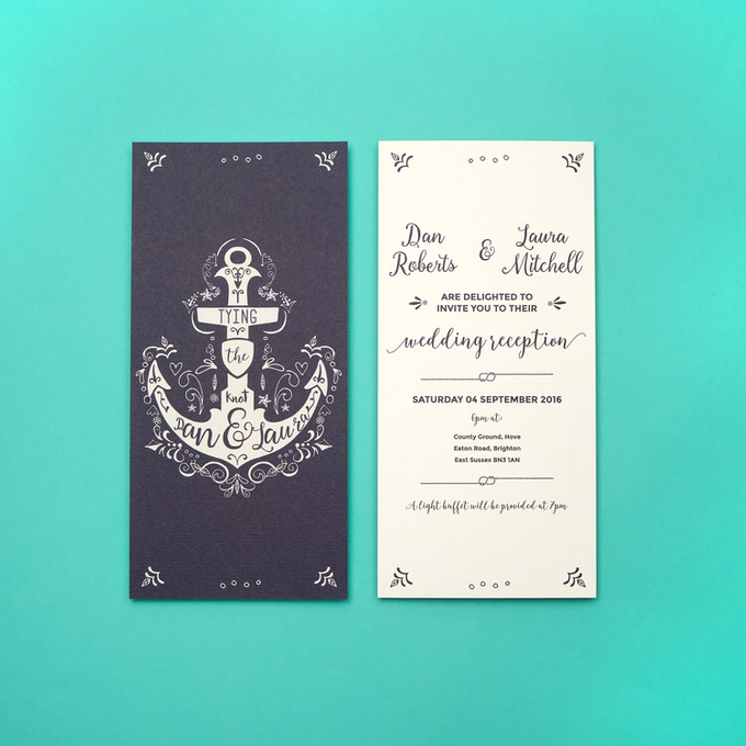 Nautical template design by Vicky Perry Wedding Stationery - 004
