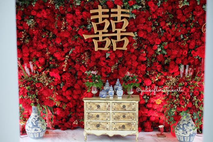 Red Sangjit Dicky & Elzshia by Yulika Florist & Decor - 001