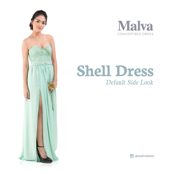 Shell Dress by MALVA Bridesmaids - 002