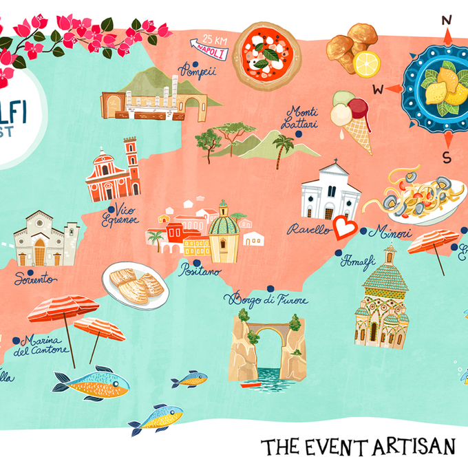 Customised map for your wedding  by The Event Artisan - 003