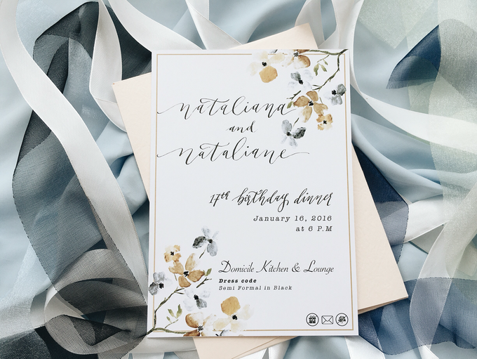 Sweet 17 Botanical Invitation by Meilifluous Calligraphy & Design - 002