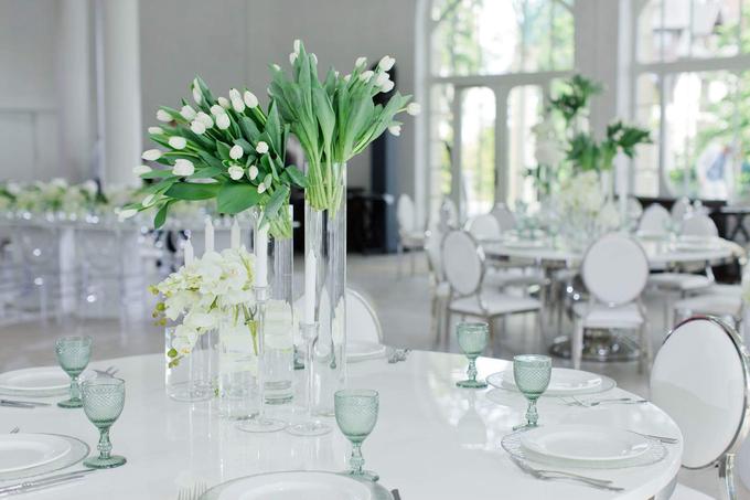 Minimalist wedding in June by Maria German decor - 005