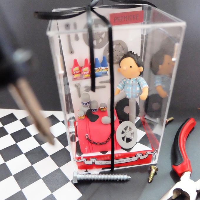 Birthday gift idea (single miniature in a box) by de hijau hejo - 003