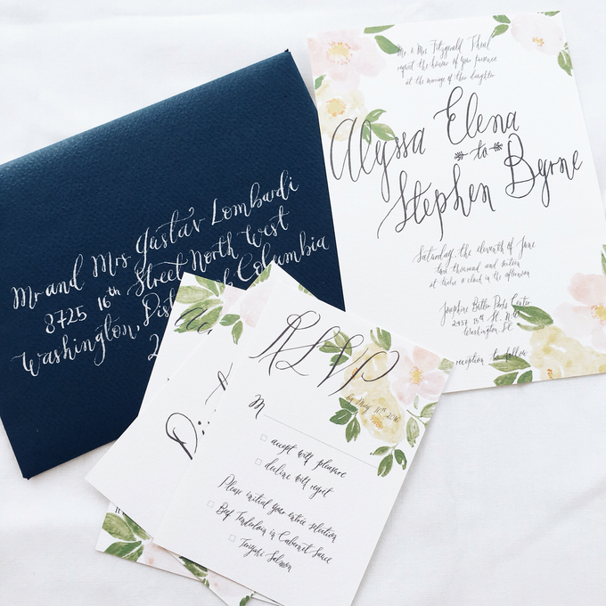 Spring theme invitations design by Meilifluous Calligraphy & Design - 006