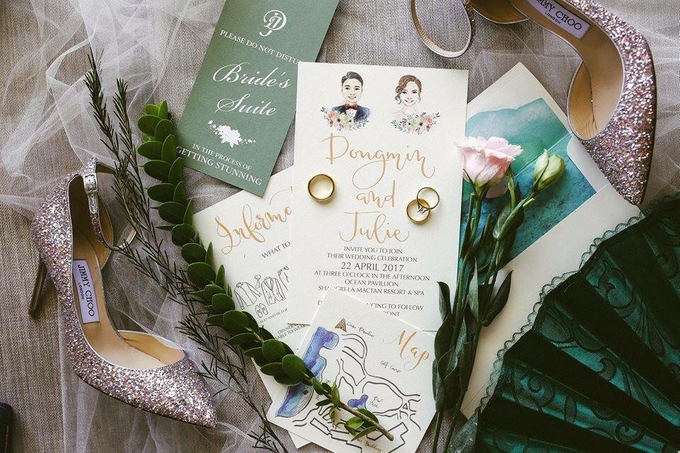 Watercolor and Calligraphy Wedding Invitations by First of April - 015