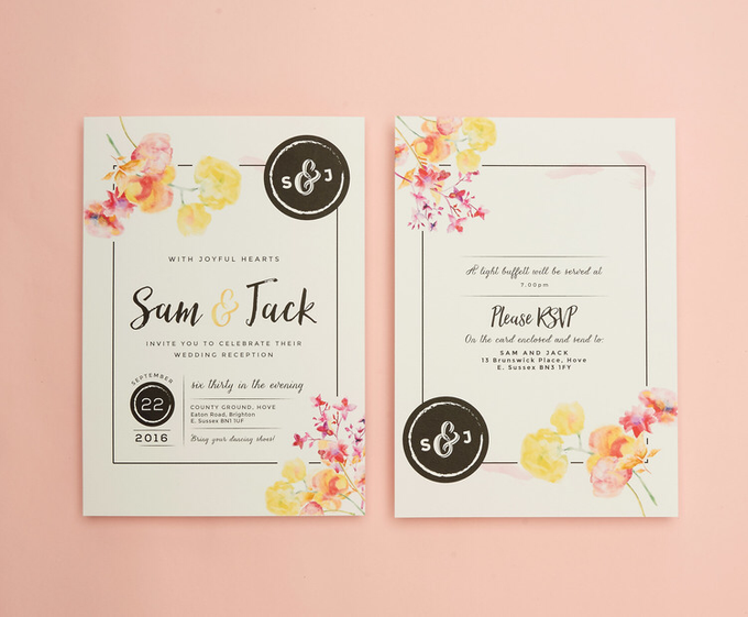Vintage Floral template design by Vicky Perry Wedding Stationery - 005